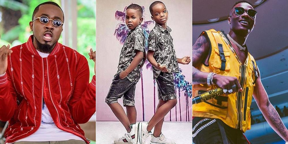 Photo of PHOTO: Ice Prince's Son And Wizkid's Son Pose Together In Matching Oufits