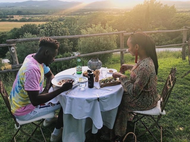 33690216 1723360927749601 4826855801123504128 n 640x479 - PHOTOS: Mr Eazi And Temi Otedola On A Romantic Holiday In Italy