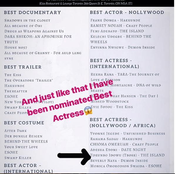 45 - Adesua Etiomi, TBoss and Beverly Naya Nominated For Best Actress Award