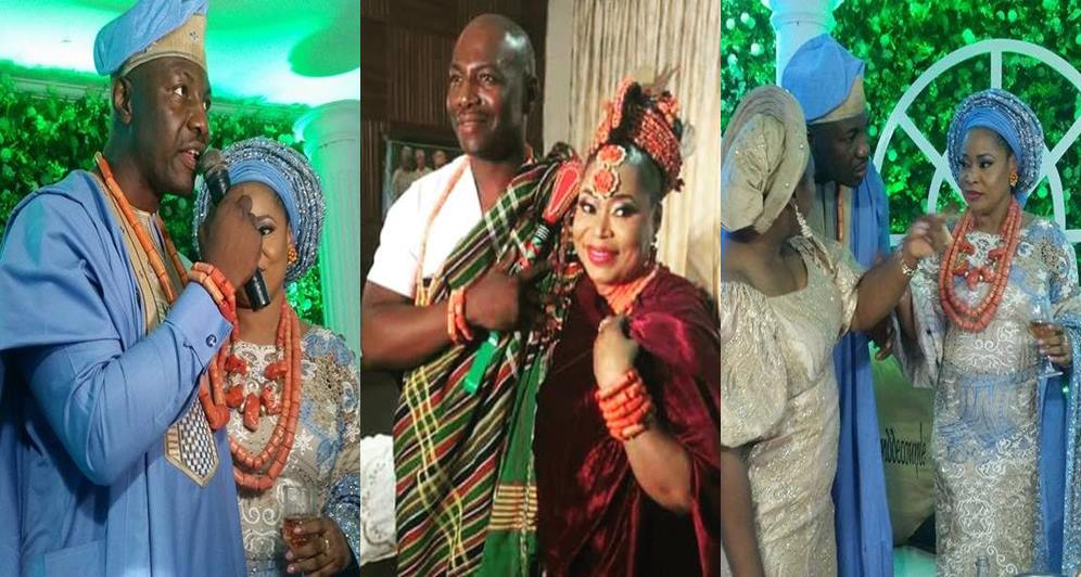 Photo of Photos: Yakubu Gowon's son, Musa and his bride traditional wedding