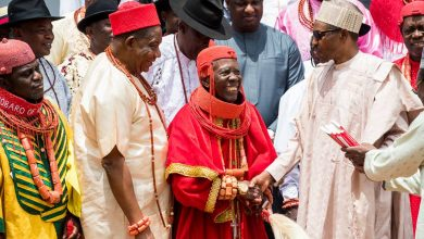 Buhari and Urobo Traditional Chiefs