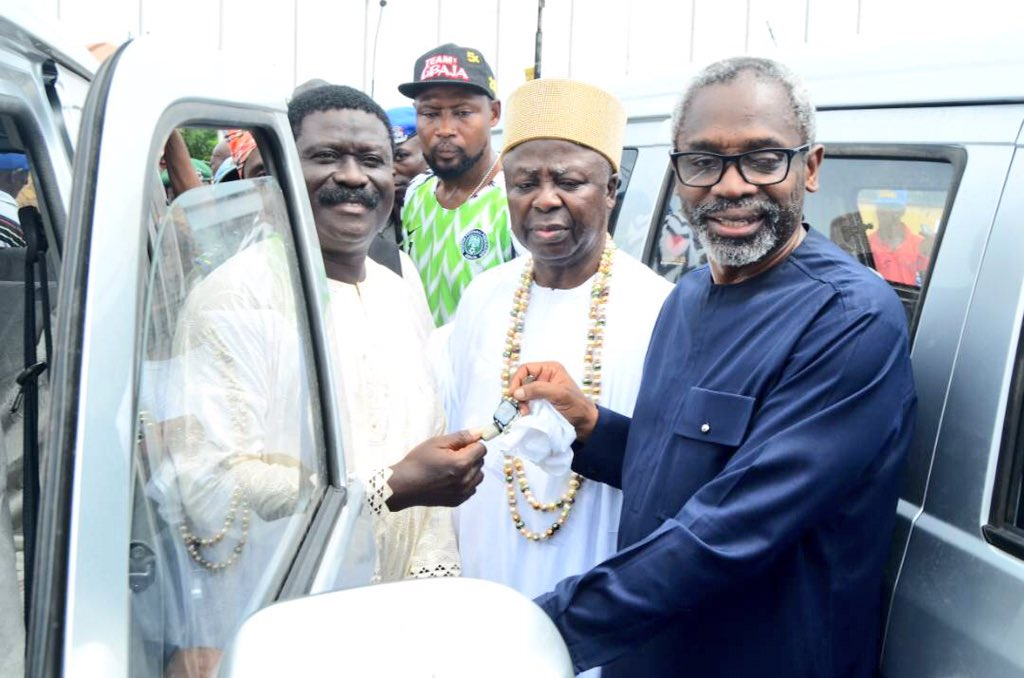 Femi 2 - Hon. Femi Gbajabiamila Gives 30 Buses, 25 Tricycles, 160 Motorcycles to his Constituents