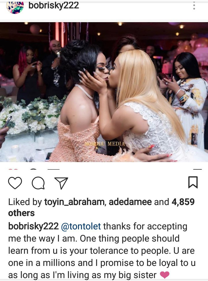 'Thanks For Accepting Me The Way I Am' – Bobrisky To Tonto Dikeh - OkayNG News