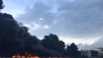 Tanker explosion at Otedola Bridge