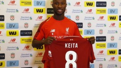 naby keita liverpool e1530097909479 390x220 - Liverpool New Signing Naby Keita Shirt Number Revealed