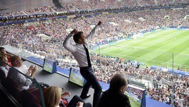 23acfd0d 55de 4313 8e74 d7942f33d142 390x220 - PHOTOS: French President Emmanuel Macron Celebrates French World Cup Win