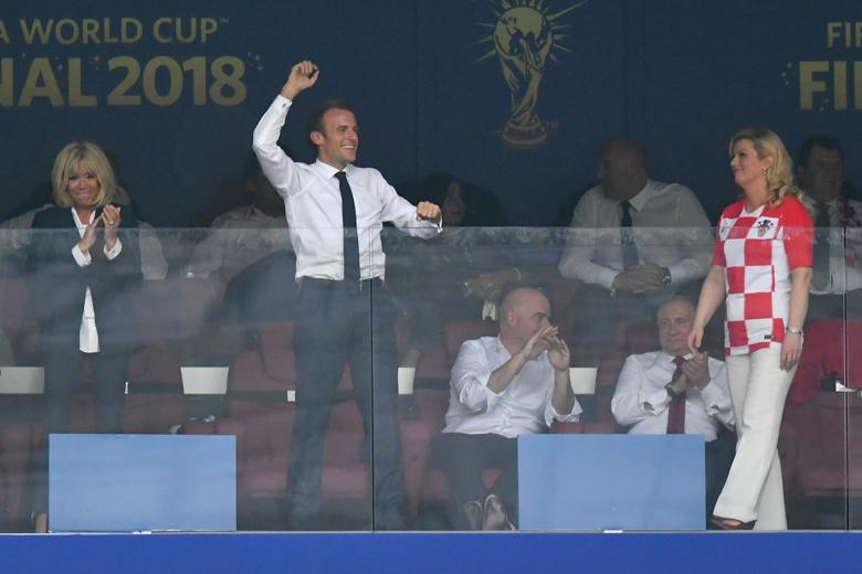 PHOTOS: French President Emmanuel Macron Celebrates French World Cup Win - OkayNG News