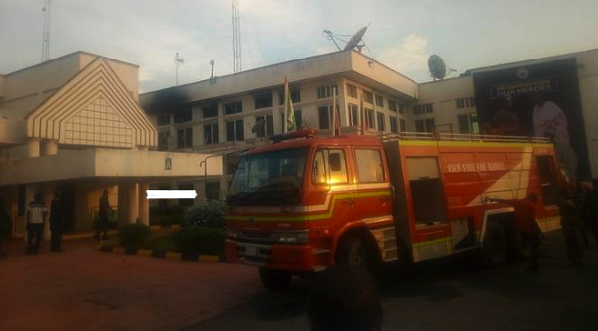 Photo of Fire Guts Governor Aregbesola's Office