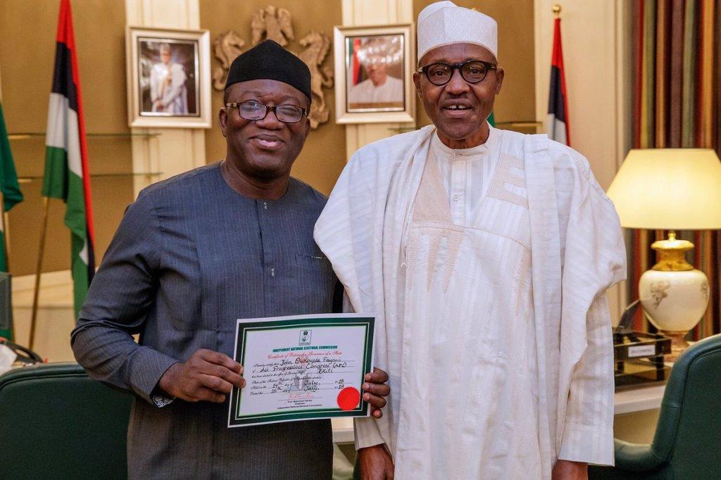 Fayemi presents to Buhari