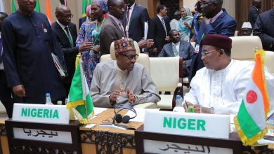 Buhari Mauritania 1 390x220 - PHOTOS: President Buhari Attends African Union (AU) Summit In Mauritania