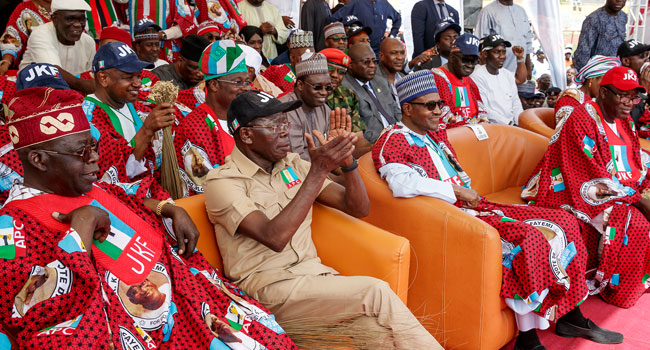 Buhari in Ekiti 4 - PHOTOS: President Buhari Attends APC Mega Rally In Ekiti, Urges Residents to Vote for Fayemi