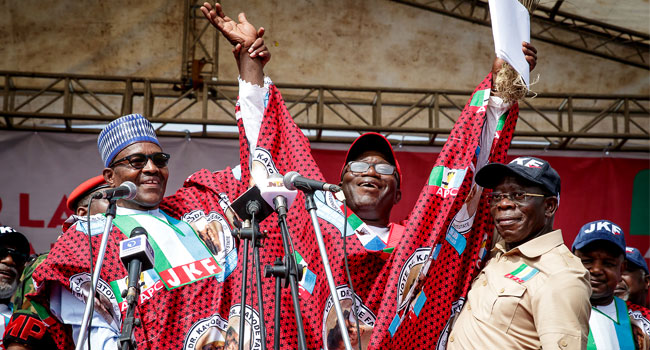 Buhari in Ekiti 5 - PHOTOS: President Buhari Attends APC Mega Rally In Ekiti, Urges Residents to Vote for Fayemi