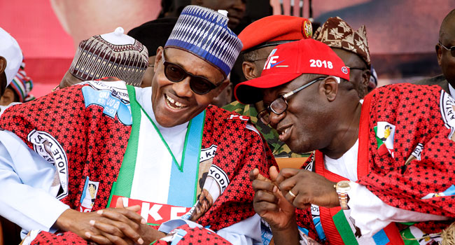 Buhari in Ekiti 7 - PHOTOS: President Buhari Attends APC Mega Rally In Ekiti, Urges Residents to Vote for Fayemi