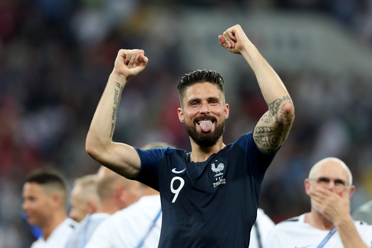 Arsenal Congratulate Olivier Giroud After France Win 2018 FIFA World Cup