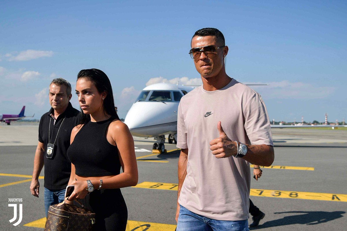 Cristiano Ronaldo Arrives In Turin, Italy To Complete Juventus Transfer