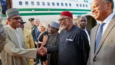 DiLORT4XkAAvpDg 390x220 - PHOTOS: President Buhari arrives Netherlands ahead of ICC's 20th anniversary