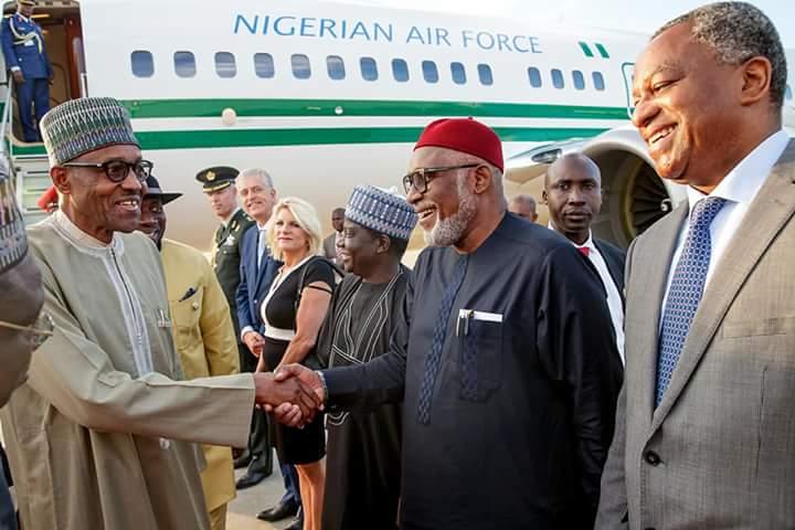 DiLORT4XkAAvpDg - PHOTOS: President Buhari arrives Netherlands ahead of ICC's 20th anniversary