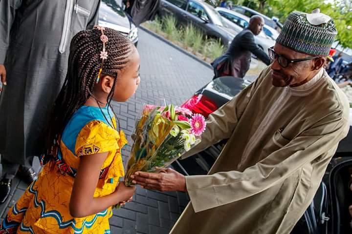 DiLORjjXkAAz6K  - PHOTOS: President Buhari arrives Netherlands ahead of ICC's 20th anniversary