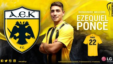 DifAwIzXkAELl M 390x220 - Transfer News: Argentine striker Ezequiel Ponce joins AEK Athens from AS Roma