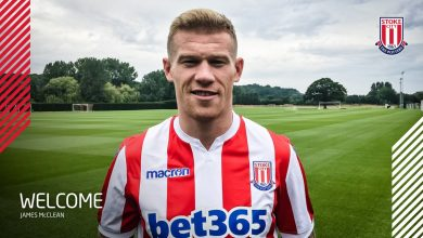 DiuMvgiWkAAo6Fa 390x220 - Transfer News: Stoke City sign James McClean from West Bromwich Albion
