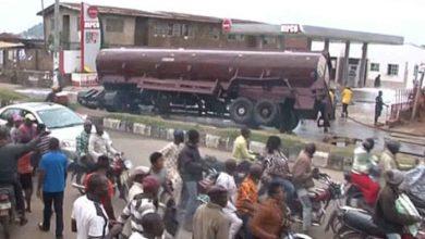 Petrol tanker spills fuel in Ado Ekiti