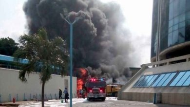 Fire guts Ecobank headquarters 390x220 - Fire Outbreak at Ecobank Headquarters In Lagos