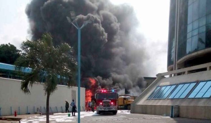 Photo of Fire Outbreak at Ecobank Headquarters In Lagos