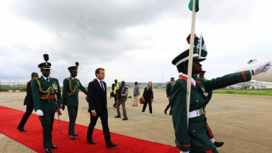 French President Macron In Abuja