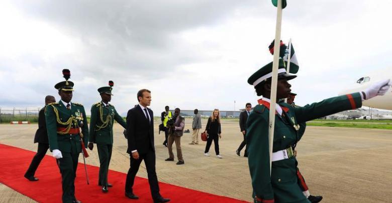 Photo of French President Macron Arrives Abuja to Meet with President Buhari