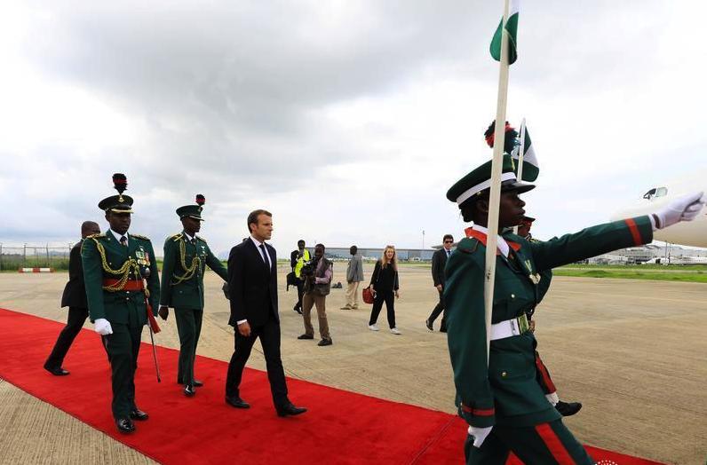 French President Macron In Abuja