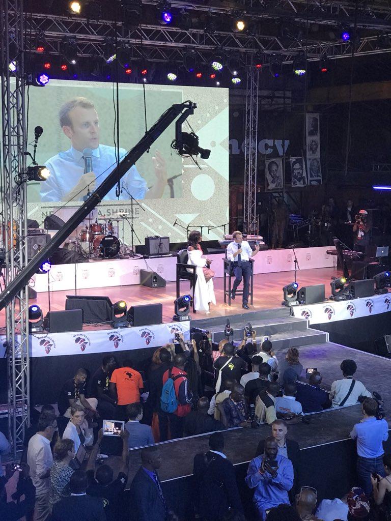French President Emmanuel Macron In Lagos