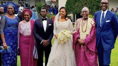 ajoke silva son wedding 390x220 - Photos Of Celebrities At Olu Jacobs Son White Wedding