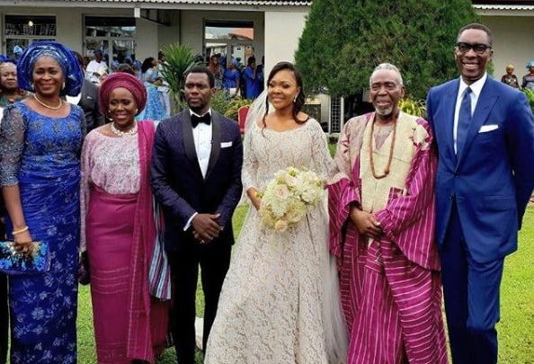 Photo of Photos Of Celebrities At Olu Jacobs Son White Wedding