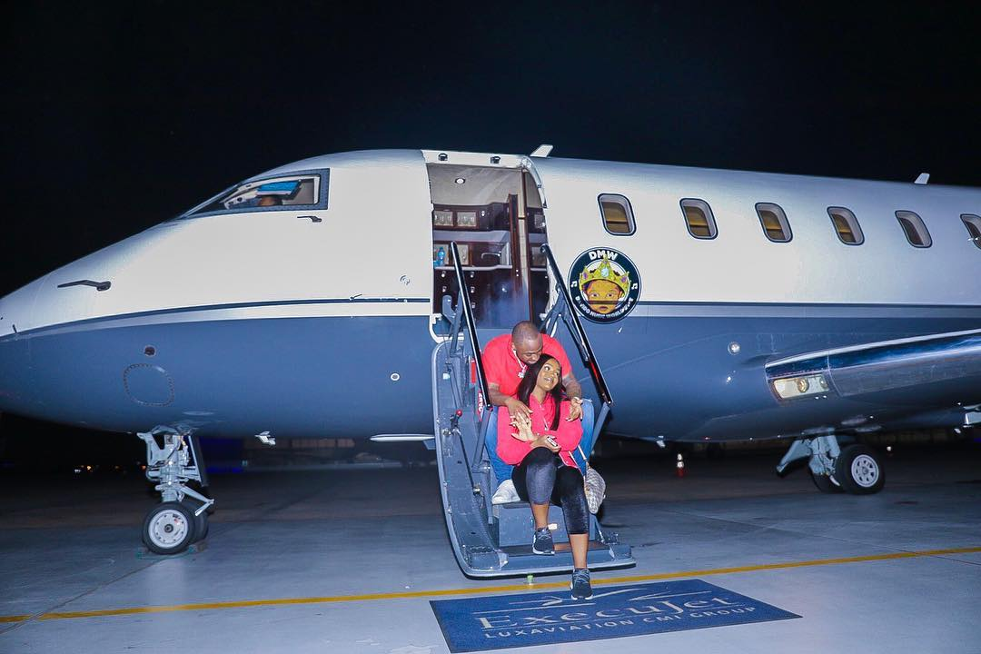 Davido Shares Photo Of Himself And Chioma From Their First Trip With His Private Jet - OkayNG News