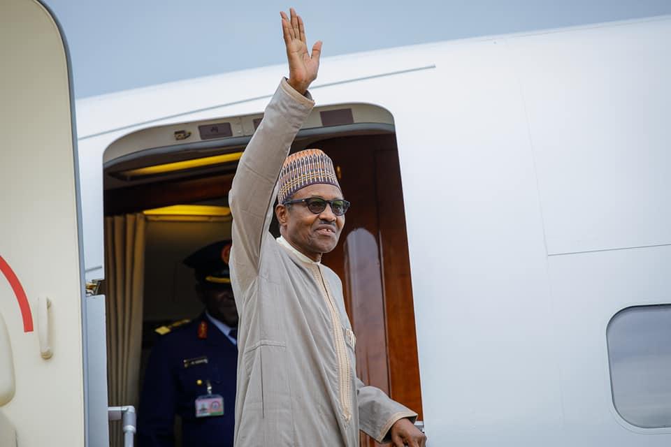 PHOTOS: President Buhari Departs Abuja for China Ahead of FOCAC Summit