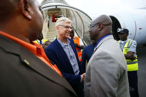 Arsene Wenger In Liberia