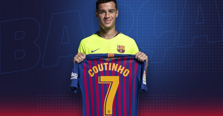 Photo of Coutinho Given Number 7 Shirt at Barcelona