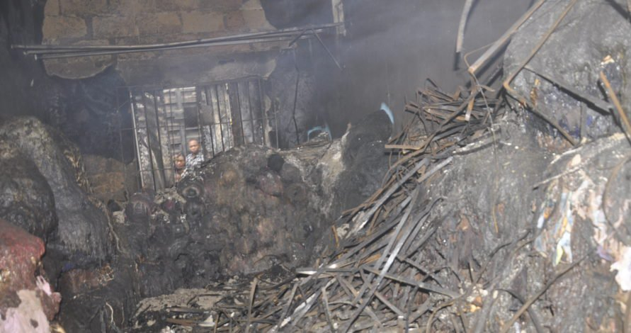 Photo of Fire Guts Textiles Materials Worth Millions of Naira in Aba Market