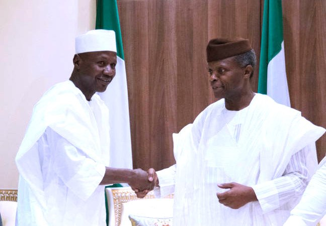 Photo of Acting President Osinbajo Meets with New DSS DG Boss Seiyefa, EFCC Boss Magu Again