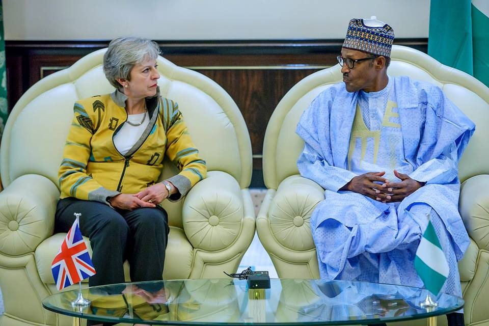 May Buhari 1 - Theresa May Visits Nigeria, Meets President Buhari