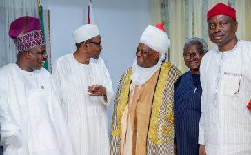 Orji Uzor Kalu with President Buhari In Daura