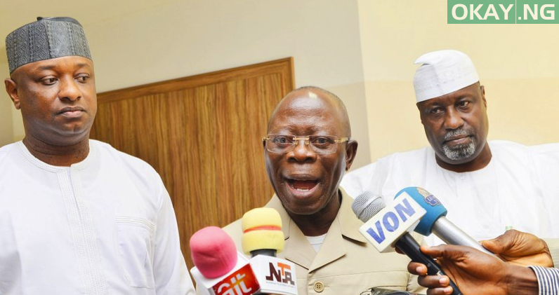 Photo of Oshiomhole says Nobody will be sworn in as governor in Bayelsa