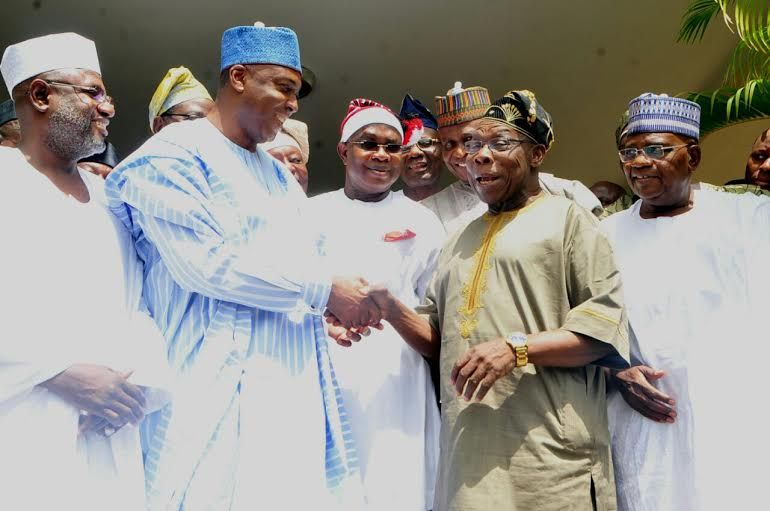 Saraki Meets with Obasanjo In Abeokuta - OkayNG News