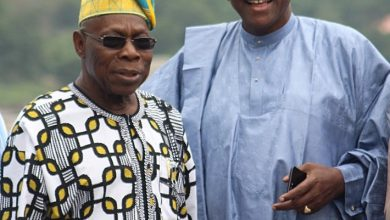 Sule Lamido Obasanjo 1 390x220 - PHOTOS: Sule Lamido Meets Obasanjo Over His 2019 Presidential Bid