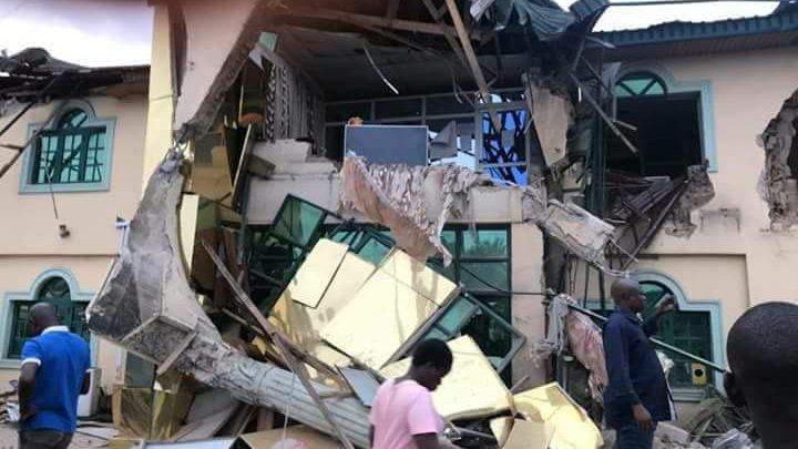 Photo of PHOTOS: Governor Ajimobi Demolishes Yinka Ayefele's Radio Station In Ibadan