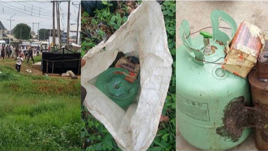 bomb in delta 390x220 - PHOTOS: Bomb Discovered in Asaba, Delta