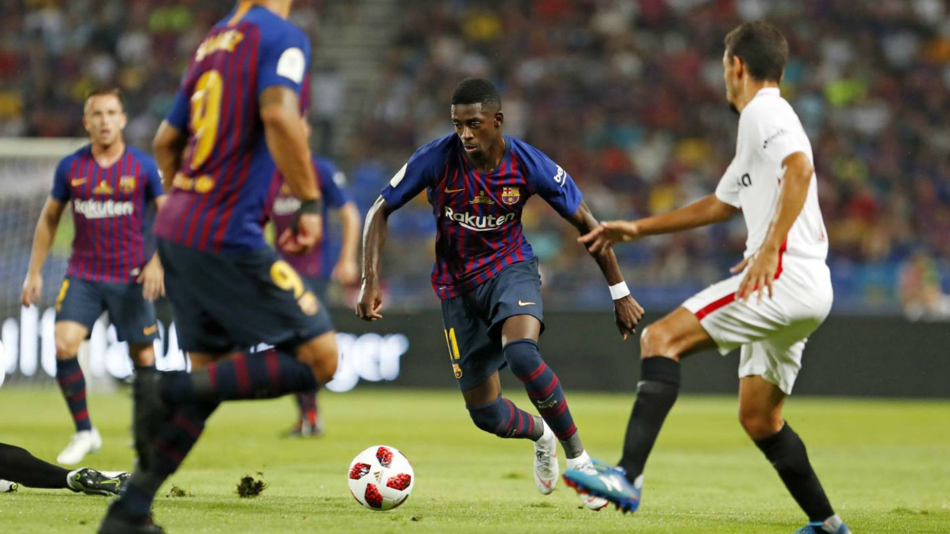 Sevilla 1-2 Barcelona (Super Cup) Highlights