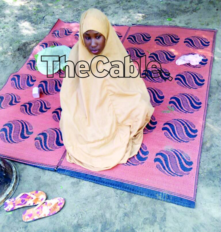 leah sharibu 768x803 - Leah Sharibu Cries Out from Captivity, Calls On Buhari to Pity Her [Listen to Audio]