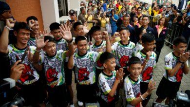 Thai cave boys In School