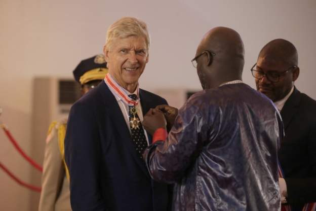 weah wenger 1 - Liberia's President Weah Decorates Wenger with Country's Highest Honour